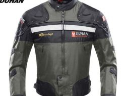 DUHAN Motorcycle Jacket Riding Armor Motocross Off-road Jacket Moto Men Windproof Clothing Motorbike Protector for Winter Autumn Size xl