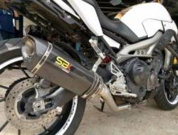 Ekzos Yamaha MT09 / Tracer exhaust SBK Carbon Ori