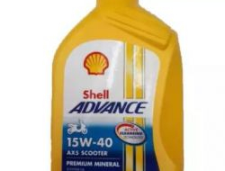 SHELL ADVANCE SCOOTER ENGINE OIL AX5 15W-40 0.8L