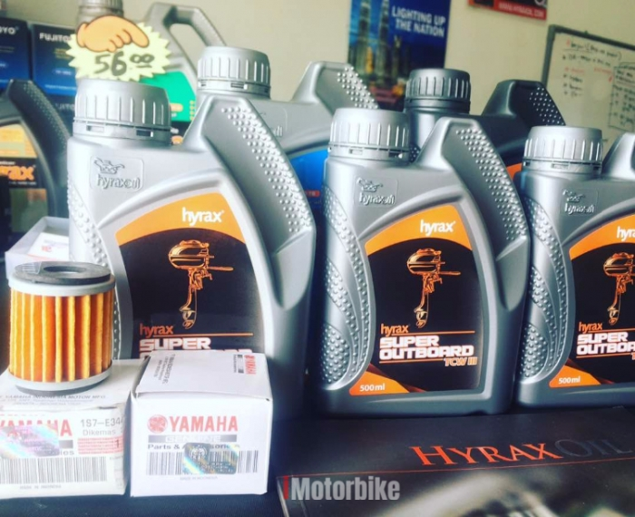 2T MOTOSIKAL TCW III (motorcycle) racing HYRAX OIL