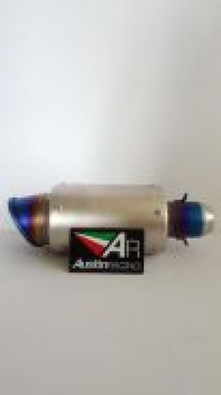 Austin Racing exhaust gp muffler titanium color