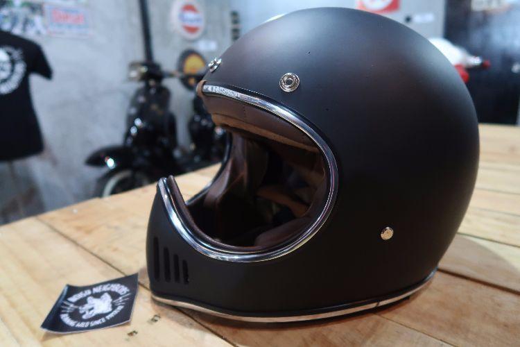 Boulter Helmet Full Face Moto 3 Black Matte