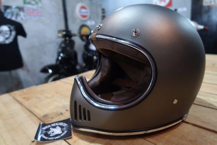 Boulter Helmet Full Face Moto 3 Gunmetal Flat