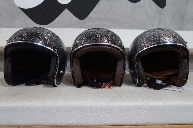 Boulter Helmet Open Face Grey Metalflake