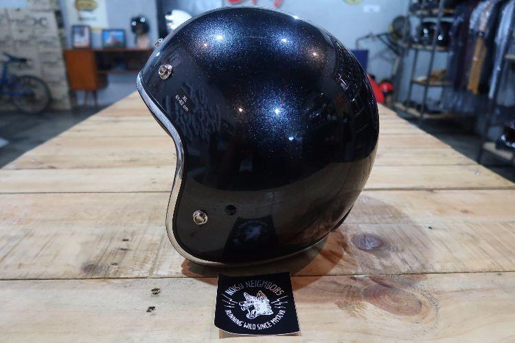 Boulter Helmet Open Face Sparkling Blue Gloss
