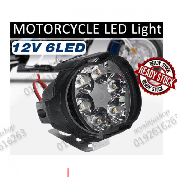 12V Black Fog Cree Spotlight Spot Light Motorcycles Lamp Bright Led Motorcycle