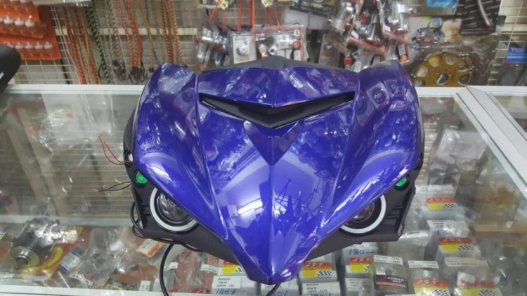 Front Panel Projector Yamaha Y15ZR / MX King / Sniper 150 (Blue), RM320,  Lenses & Projectors Motorcycles, Kuala Lumpur | imotorbike my