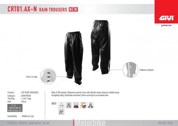 GIVI RAIN PANTS TROUSERS CRT01 (SELUAR HUJAN) M-6XL 59 Ratings