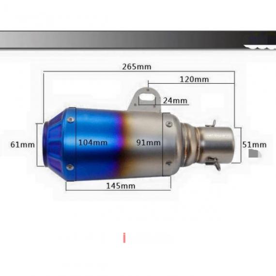 GP Titanium Exhaust Muffler