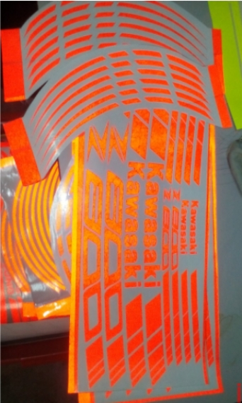 Lining Sticker Reflector Heavy Duty All Bike Orange Rm50 Stickers Decals Emblems Motorcycles Kuala Lumpur Imotorbikemy