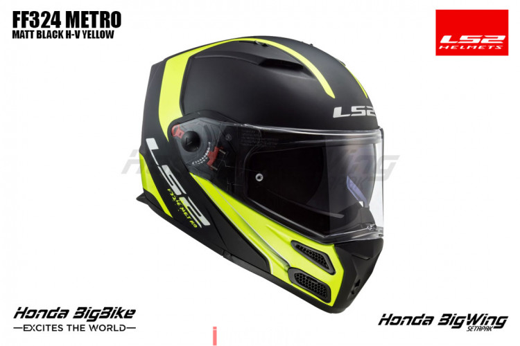 LS2 FF324 METRO MATT BLACK H-V YELLOW