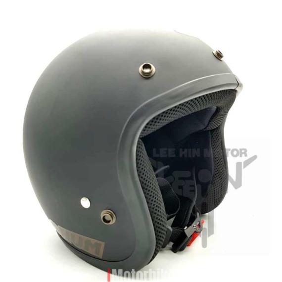 100% Original Magnum M8 3 Button Helmet ( Matt Black ), Matt Black
