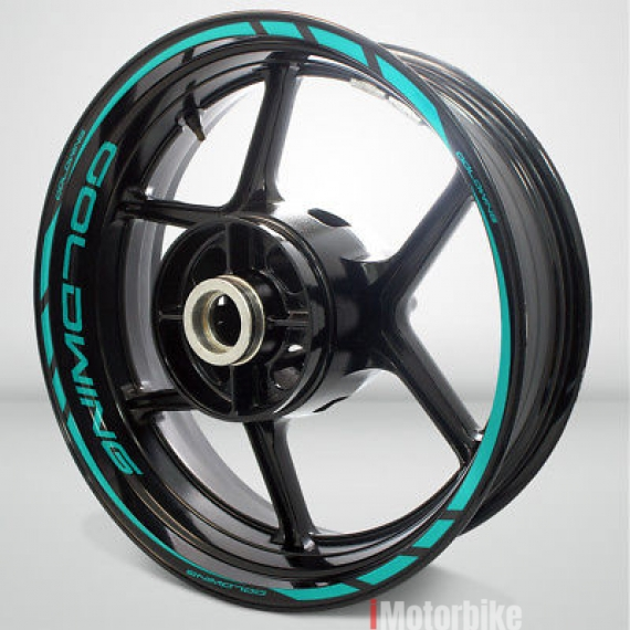 Motorcycle Rim Wheel Decal Accessory Sticker for Honda Goldwing Color=Matte Turquoise(MT)