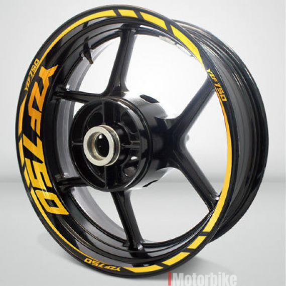 Motorcycle Rim Wheel Decal Accessory Sticker For Yamaha Yzf 750 Colorreflective Yellowry Rm364 Stickers Decals Emblems Motorcycles Selangor