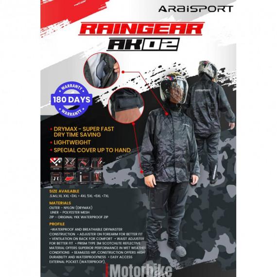 ARAISPORT - RAINGEAR AK-02