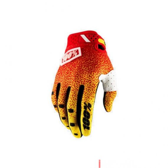 100% - RIDEFIT - RED YELLOW Size S