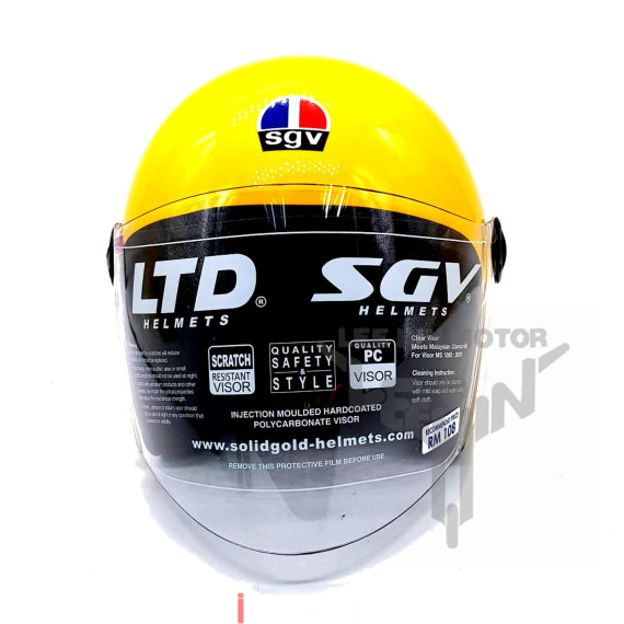 100% Original SGV Sharp Motorcycle Helmet, Matt Black