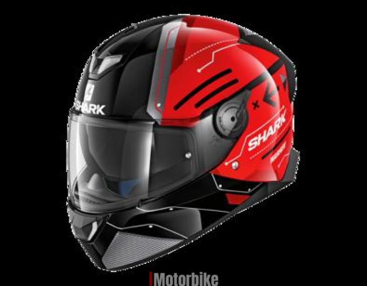 Shark SKWAL 2 WARHEN  HE4935EKRK Motorcycle Bike Motorbike Helmet