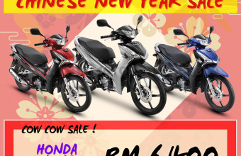 HONDA CNY SALE WAVE 125I (SINGLE DISC) PROMO !