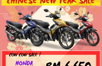 HONDA CNY SALE WAVE DASH 125 (DOUBLE DISC) PROMO !