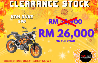 CLEARANCE STOCK KTM DUKE 390