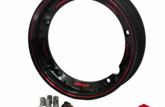 VESPA TUBELESS RIMS BLACK WITH RED LINE, RM150, Wheels & Rims Vespa