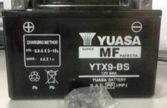 Yuasa battery ytx9-bs kawasaki ninja 250 z250 z800