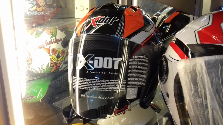X-Dot Helmet Universal Orange Stripe