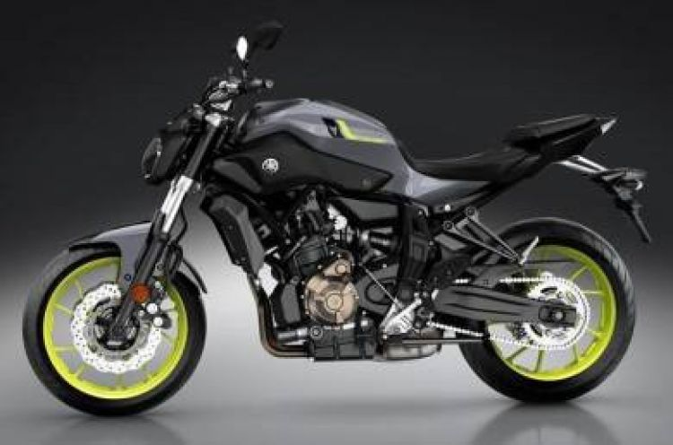 2017 Yamaha MT07 WITH ITALY AIROH HELMET