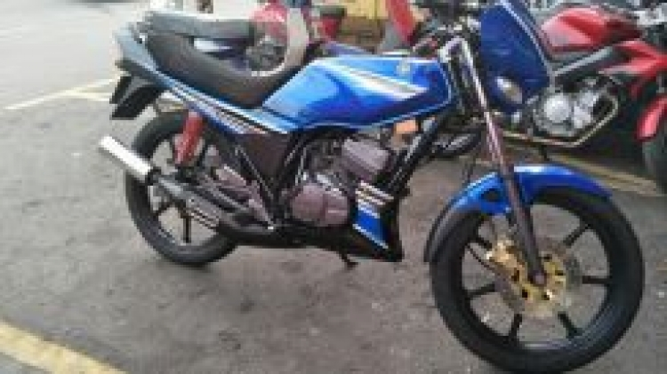 2001 Yamaha rxz catalyzer (original habis,panas)