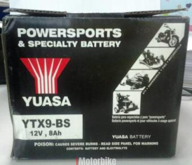 Yuasa Battery Ytx9 Bs Kawasaki Ninja 250 Z250 Z800 Batteries