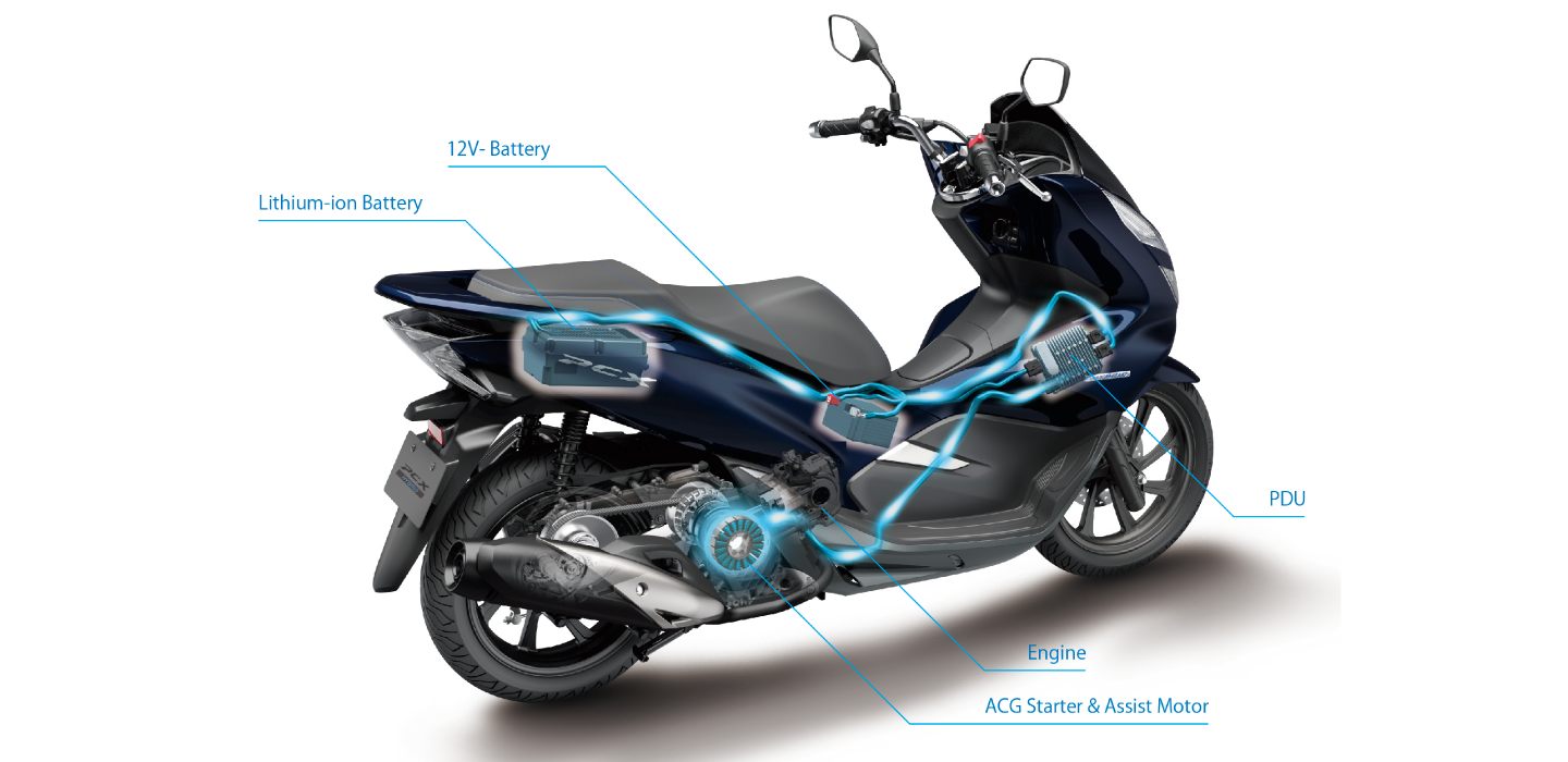 Honda Japan launches first ever hybrid scooter - iMotorbike News
