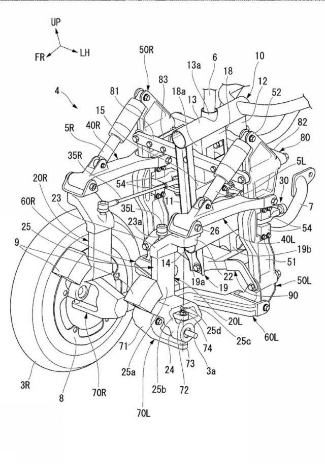 Honda files patent for a tilting three-wheeler - iMotorbike News