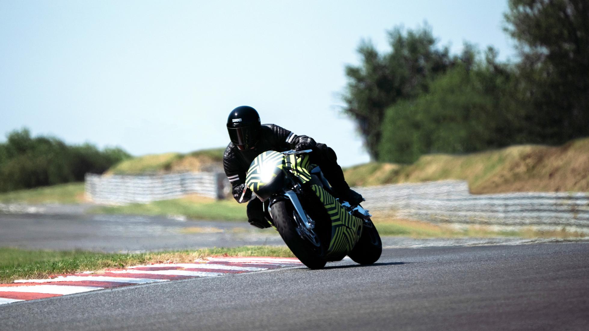 AMB 001 going through dynamic testing at Pau-Arnos circuit, France