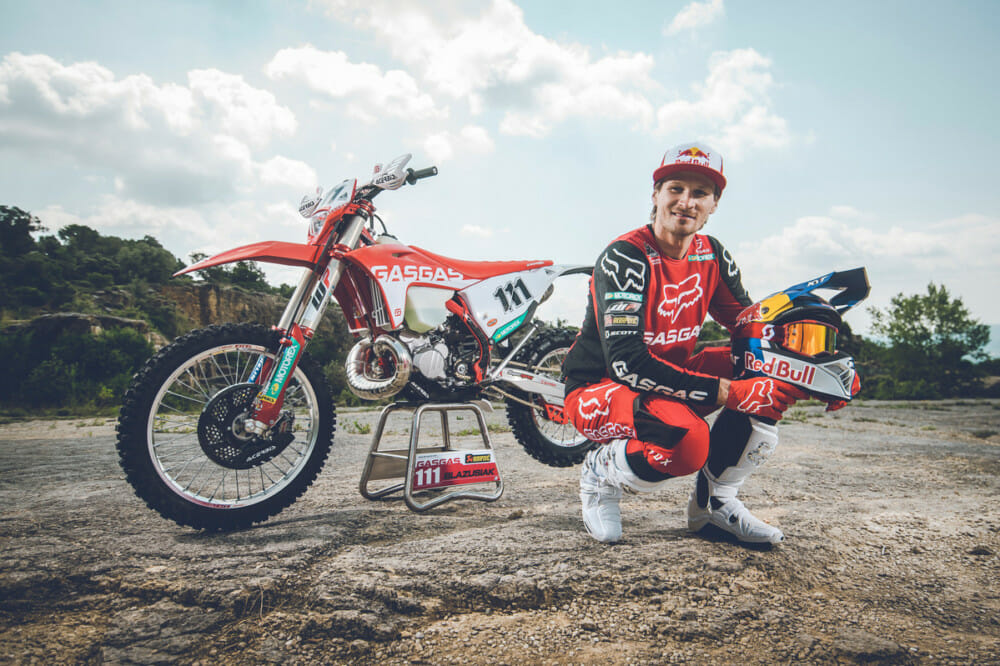 Taddy Blazusiak all geared up for Red Bull Romaniacs