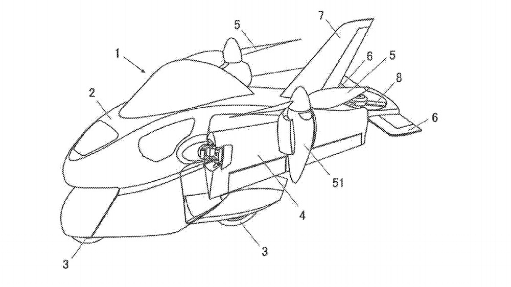 Subaru's recent patent suggests a potential flying motorcycle.